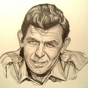 Andy Griffith drawing (original)