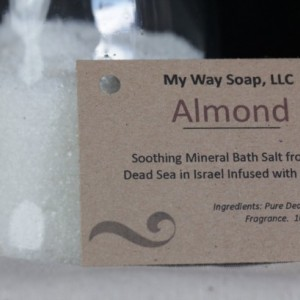 Almond Bath Salt - All Natural, Skin Care, Aromatic and Soothing Bath Salts