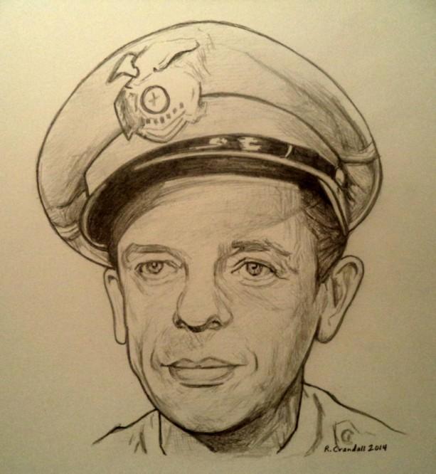 Barney Fife, Don Knotts drawing
