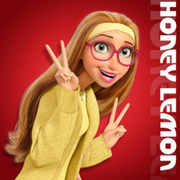 Big Hero 6 Honey Lemon Inspired Knitted Cardigan Cosplay Sweater Yellow with Pink Buttons