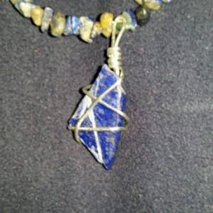 Lapis Lazuli polished Crystal Necklace