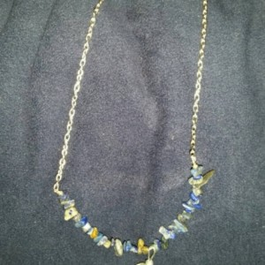 Lapis Lazuli polished Crystal Necklace