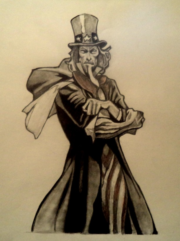 Uncle Sam, comic drawing
