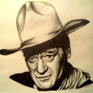 John Wayne drawing