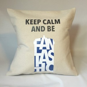 Doctor Who Keep Calm and Be Fantastic Pillow Throw