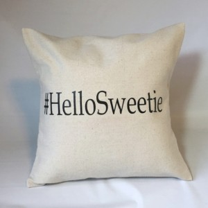 Doctor Who Hello Sweetie Hashtag Pillow Throw