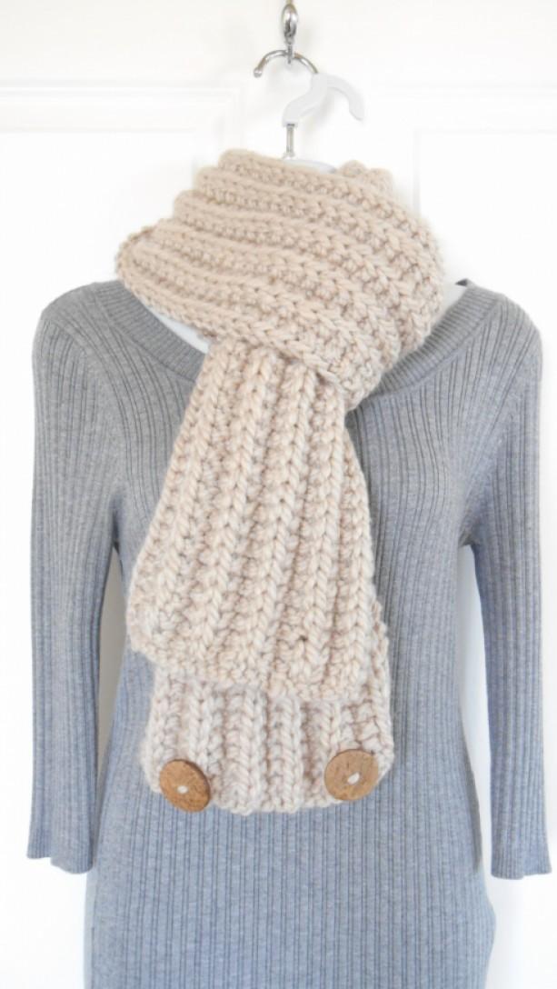 Chunky Knit Cowl - Bulky Knit Scarf - Knit Infinity Scarf - Bulky ...
