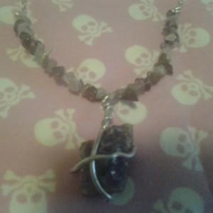 Raw Amethyst Stone Necklace
