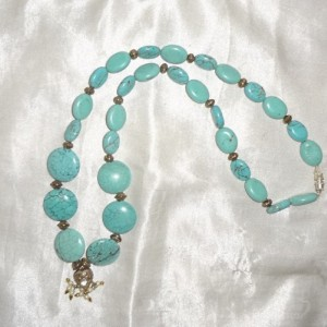 SALE Handmade Original Turquoise HEART Pendant