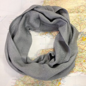 silver shimmer:  handwoven infinity scarf