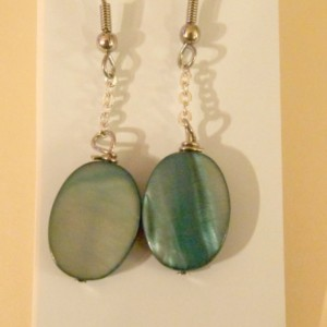 Teal Stone Earrings