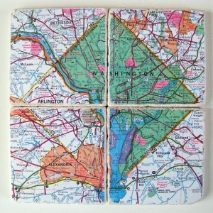 Washington D.C. Map Coasters (Green)