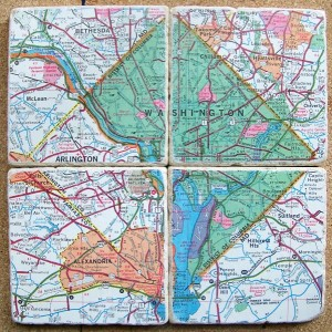Washington D.C. Map Coasters (Green)