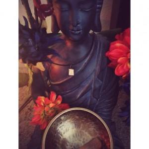 Antique Clay Thai Buddha Necklace Wrap Bracelet pendant charm leather