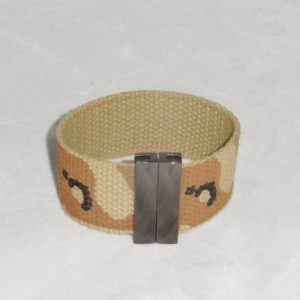 Camo Bracelet  made from Heavy Cotton Material with Plumb Black Magnetic Clasp