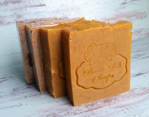Pumpkin Spice Soap Bar with Pumpkin Puree