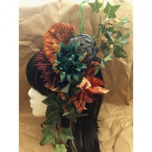 Flower Hair piece mushroom festival goth kawaii headdress gypsy costume drag ivy headband burlesque bridal rockabilly vintage Pin-Up