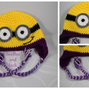 Crochet Minion Hat - XL Adult Size