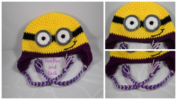 Crochet Minion Hat - XL Adult Size