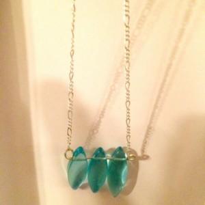 Simple Blue Glass necklace