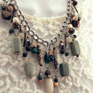 Cha cha beaded boho necklace statement piece