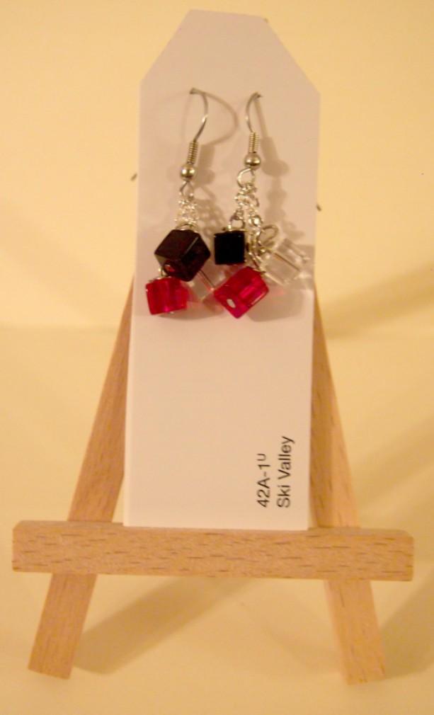 Red & black, earrings