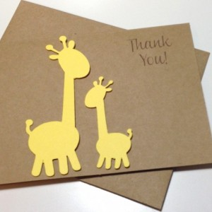 Giraffe Baby Shower Thank You Card Set Giraffe Birthday Thank You Cards, Giraffe Thank You Cards, Baby Thank You, Giraffe