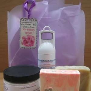 "Gift  spa set for HER ""Flowery"" free shipping"