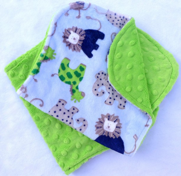 Baby Burp Cloths - Safari and Lime Green Burp Cloth Set - Boy Burp Cloths