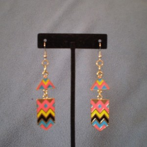 Colorful Aztec Design Earrings