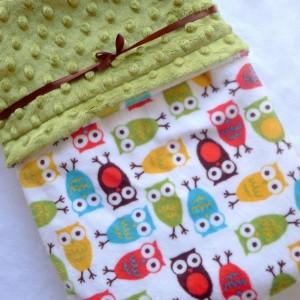Minky Baby Blanket, Owl Baby Blanket, Baby Blanket, Gender Neutral, Unisex Blanket, Bedding