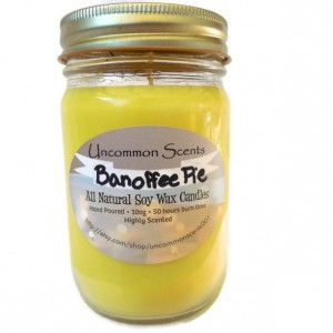 This scented candle is dedicated to the lovely Outlander actress Caitriona Balfe. Scented with Bananas and Toffee