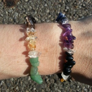Handmade Crystal Clarity Chakra Balance Bracelet (contains stones for each of the 7 chakras)