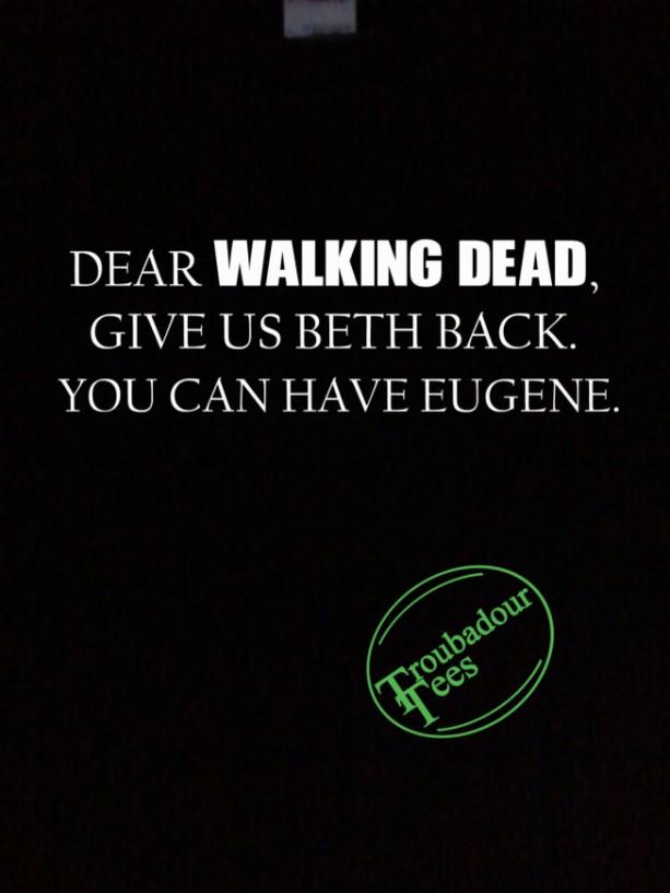 Walking Dead Fan T-Shirt Beth Eugene Trade