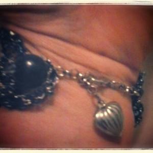 Midnight Blue Beaded Wire Cuff Bracelet