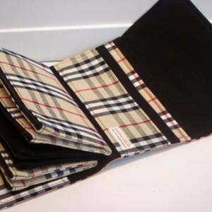 Cash Envelope Wallet  / Dave Ramsey System / Zipper Envelopes - Plaid Tan, Black , Red