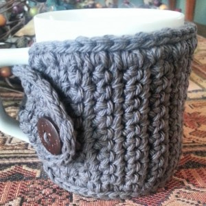 Coffee Mug Cozy in Grey