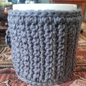 Coffee Mug Cozy in Grey