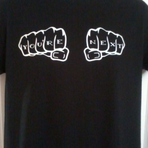 Your Next You're Next T-Shirt Grammar Knuckle Tattoo Design
