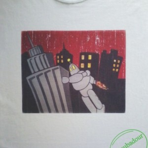 Retro Robot Distressed T-Shirt