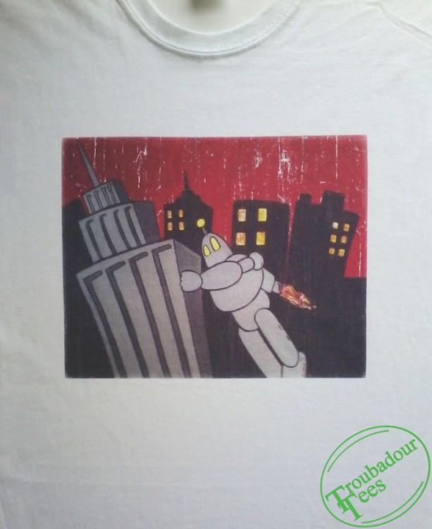 Retro Robot Distressed T-Shirt