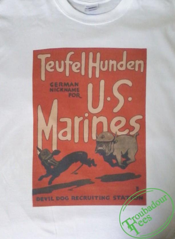 Classic Devil Dog Marines Recruitment Poster T-Shirt