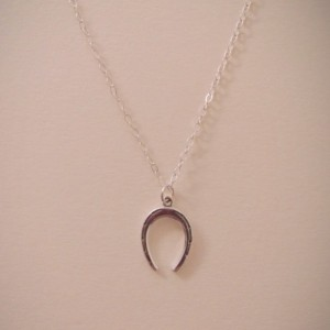 Sterling Silver Lucky Horseshoe Charm Necklace