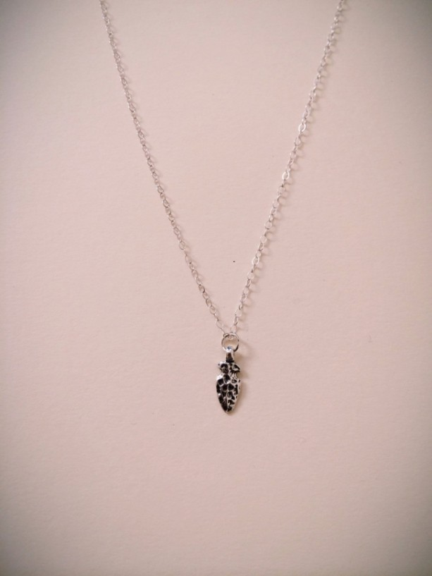 Sterling Silver Arrowhead Charm Necklace