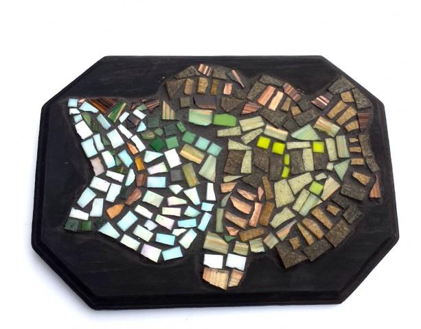 Large Mouth Bass Mosaic Artwork Glass Tile Wall Art Hanging Fishing Home Decor