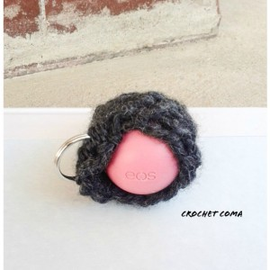 EOS Lip Balm Holder, eos Style Lipbalm Holder, Lip Balm Cozy, Lip Balm Holder Keychain, Gray Chapstick Holder, Crochet Lipbalm Carrier