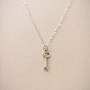 Sterling Silver Skeleton Key Charm Necklace