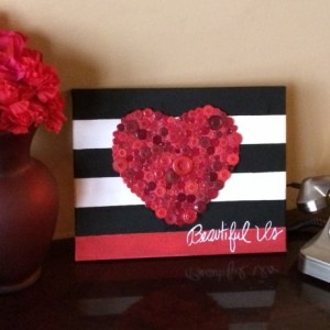 11x14 Valentine's Day canvas