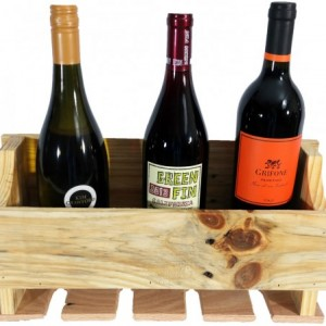 Reclaimed Wood Wine Rack Bright Colors Wall Mount