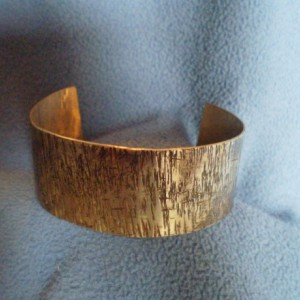 Antiqued  Brass Textured Bracelet